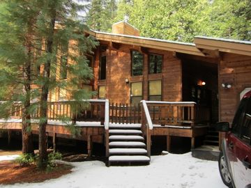 Bear Valley cabin rental - Outside decking on both front and backside of house. Very peaceful.