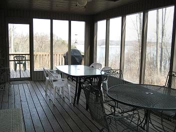 Jamestown house rental - Screened Porch with Lake View