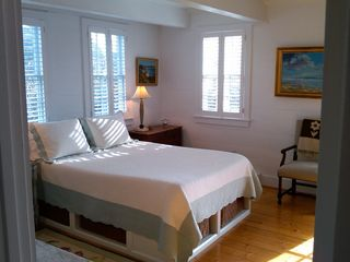 Surfside Nantucket property rental photo - This sunny and open first floor bedroom