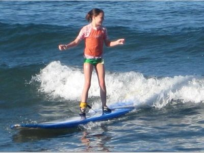 Little Surfer Girl from Colorado - From beginner to pro at Breakwall Beach