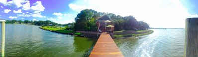 Gazebo On the Point, 300 degree water view