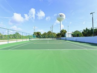 Flagler Beach house photo - The well maintained tennis court at Ocean Beach Club.