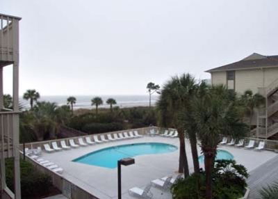 Beautiful pool and oceanfront views from your private balcony