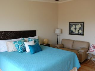 "St. Augustine Beach house photo - ""Surf"" OceanFront master Bedroom with king bed!"