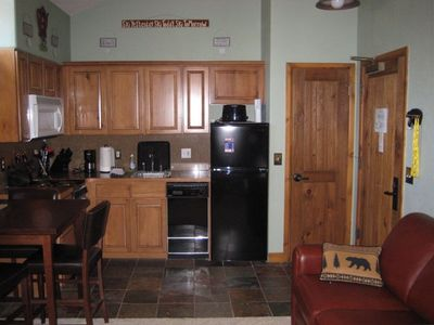 Fully equipped kitchen-View of Snowflake Lift- Great for romantic get away