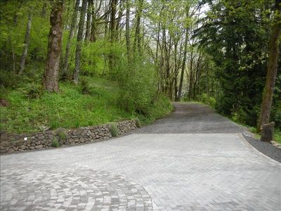 Head up the driveway to run or walk on the trails of Forest Park's 5000 acres.