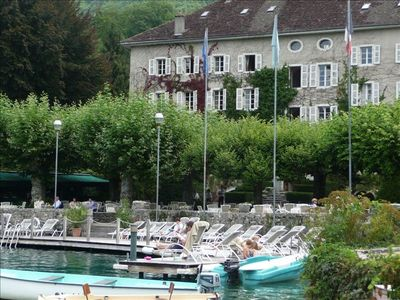 Talloires Bay with view of 'L'Abbaye' Hotel