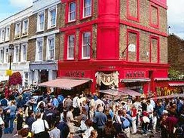 Portobello market on a typical weekend....