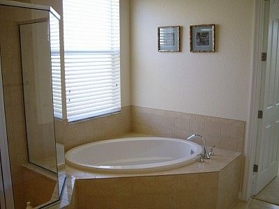 Walk-in shower & separate tub
