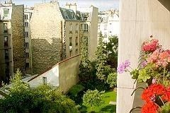 8th Arrondissement Champs Elysees apartment photo - Balcony has view of 18th century bldgs and gardens below. Very quiet area!
