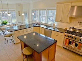 Vineyard Haven house photo - Chef's Kitchen Is Fully-Equipped With Stainless Commercial Appliances Including Viking 6-Burner Stove & Sub Zero Refrigerator
