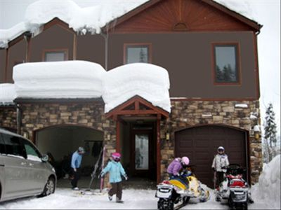 Front entrance. The driveway is shoveled everyday for you.