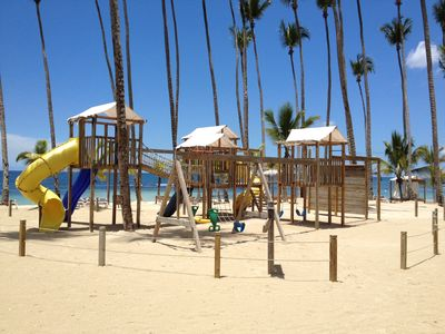 Park area on the beach for the kids.