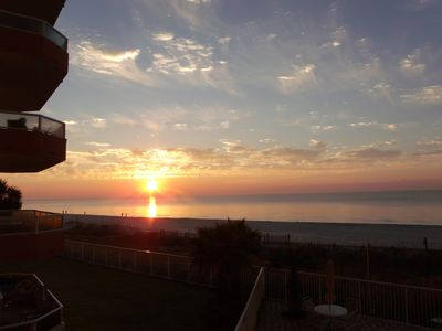 Sunrise from the Balcony, Winter Rental, Orange Beach Alabama