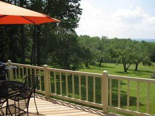 Middlefield house photo - Deck with mountain views