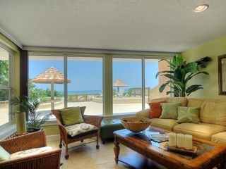 Cocoa Beach house photo - Direct oceanfront, hurricane glass enclosed living area
