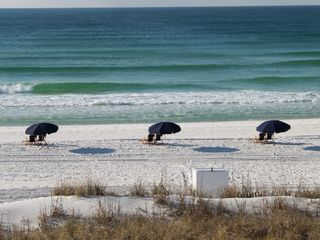 Fort Walton Beach condo photo - Uncrowded beaches. Beach service of two chairs and umbrella included!