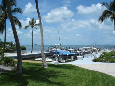 Islamorada townhome rental - Sunset Hammock private marina
