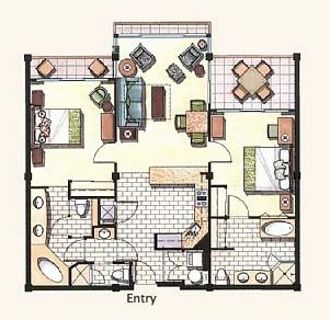 Here's our floorplan to help plan your vacation. Notice the 3 outside lanais.