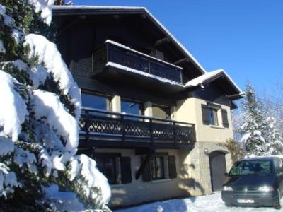 large chalet with view on the Mont-Blanc