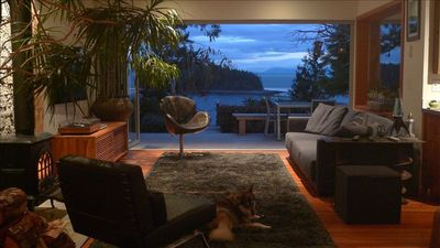 The Living Room open to the ocean.