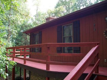 Rocky Retreat's front deck.