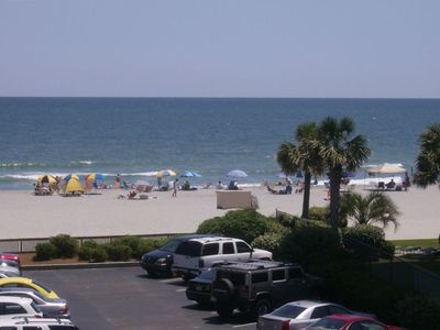 A Place at the Beach condo rental - Amazing view of the beach from balcony. Awaiting your visit.
