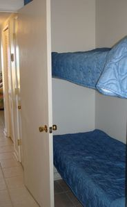 Hallway with bunk beds