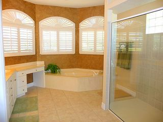 Cape Coral house photo - Master bath with walkin shower, twin vanities and large soaking tub for relaxing