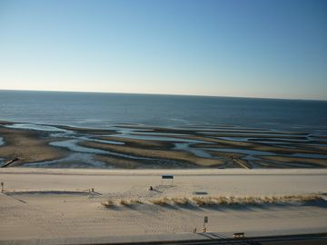 Gulfport condo rental - Low tide from the balcony