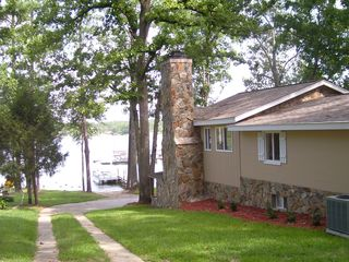 Lexington cottage photo - Driveway down to the boat ramp and dock