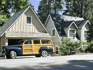 Lake Arrowhead house photo - Back of house w/one of our guest's show car