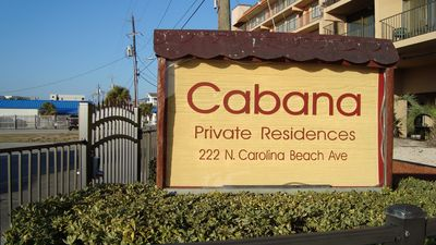The oceanfront Cabana. A gated community.