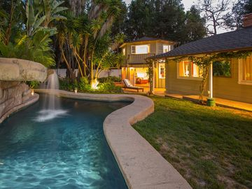 "Montecito house rental - Cascada means ""waterfall"" - This is a shallow wading pool"