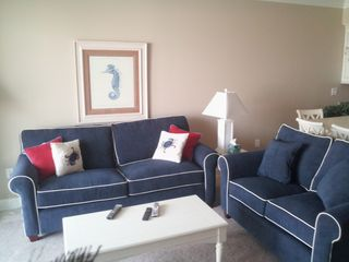 Belmont Towers Ocean City condo photo - New Sofa and Love Seat added 8/18/12. Cushioned Seating for 8 now in LR