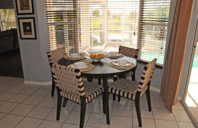 Cape Coral villa rental - Close up of Breakfast Nook with View to Pool and Lanai