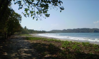 Beautiful Samara Beach is a 10 minute walk away past great natural habitat