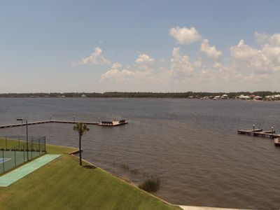 Enjoy the balcony views from this 4th floor condo at Gulf Shores Surf & Racquet