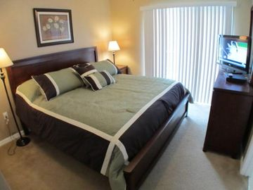 Master bedroom. King bed