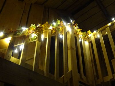 Harvest lighted staircase