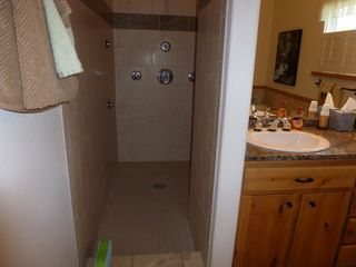 Bozeman house photo - Enjoy the Shower for 2 with his and her side shower heads and controls