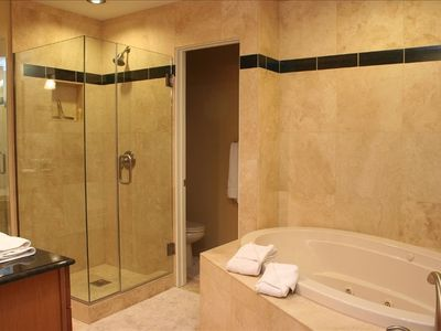 Large Master Bathroom with Shower and Bath