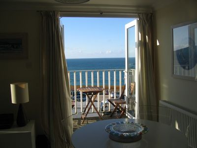 St Ives apartment rental - Dining Area with Ocean Views