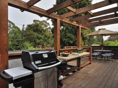 Enjoy a casual meal or outdoor entertaining on the sunny deck
