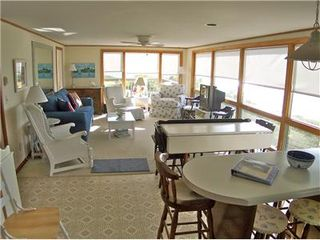 Brewster house photo - Open, bright living space overlooks beach & Bay