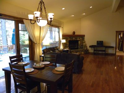 Dining Area in the Great Room at Incline Cabin.
