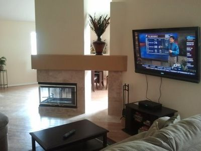 "Glendale house rental - Living Area, Fire Place, 55"" HDTV"