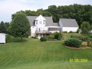 Mount Airy apartment photo - View of the back of the home, Suite is located on walk out level