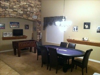 HDTV, Foosball, Poker Table