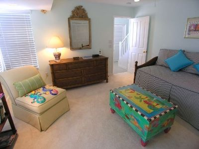 Fourth Guest Room/Den has a Twin Daybed with Trundle and a Second Satellite TV